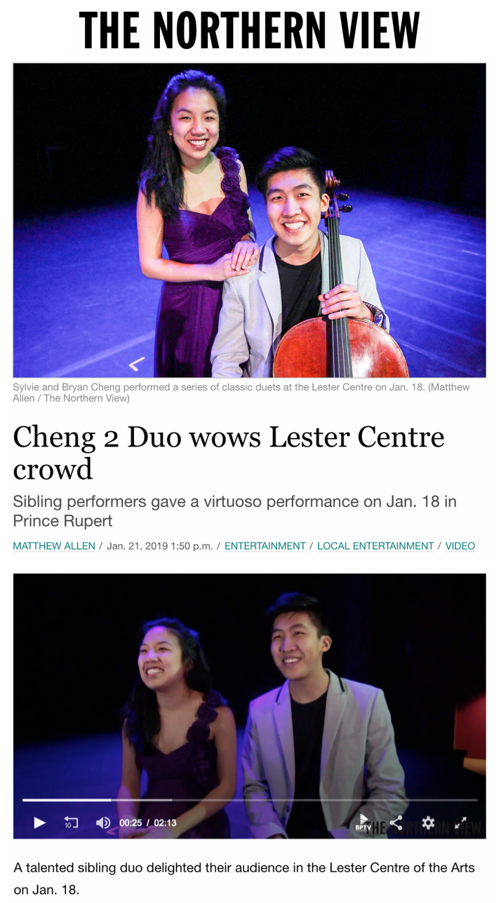 Cheng² Duo wows Lester Centre crowd