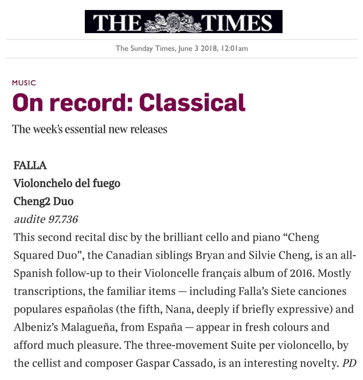 On record: Classical