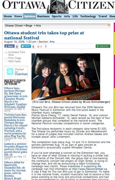 Ottawa trio takes top national prize