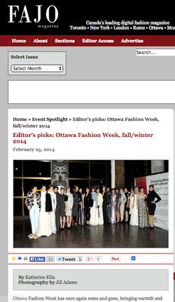 Editor's picks: Ottawa Fashion Week