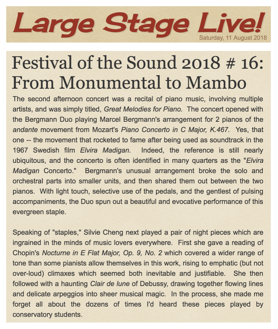 Festival of the Sound 2018