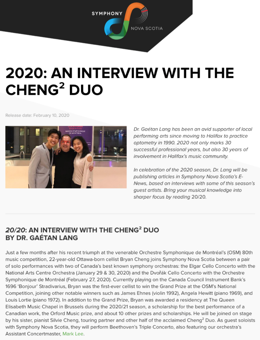 2020: Interview with the Cheng² Duo