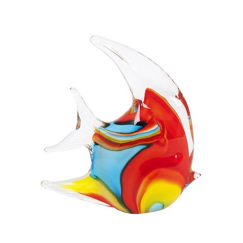 COLOURED GLASS FISH SMALL YELLOW