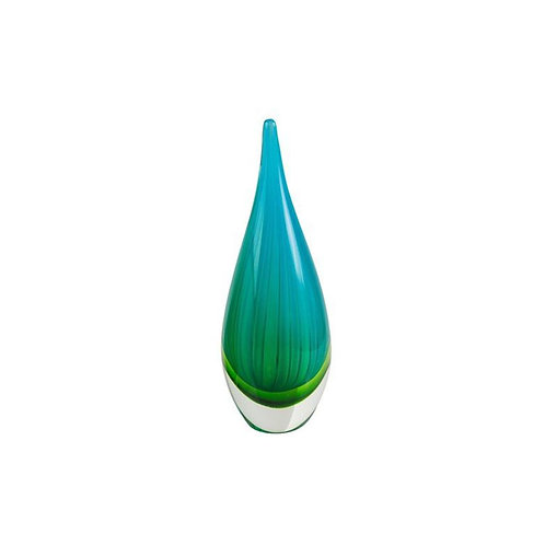 COLOURED GLASS NEEDLE GREEN BLUE LARGE 30cm