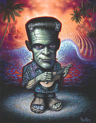FRANKENSTEIN GOES HAWAIIAN - BRAD PARKER