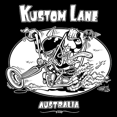 KUSTOM LANE CHOPPER T-SHIRT (MENS)