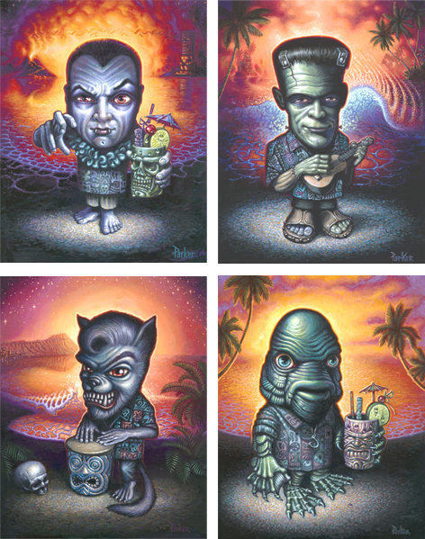 FOUR MONSTERS ON VACATION - BRAD PARKER