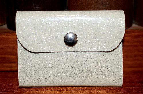 MINI WALLET - SILVER (WHITE) GLITTER