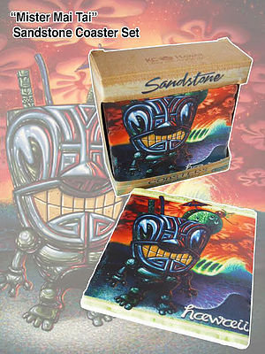 Mister Mai Tai Sandstone Coaster Set