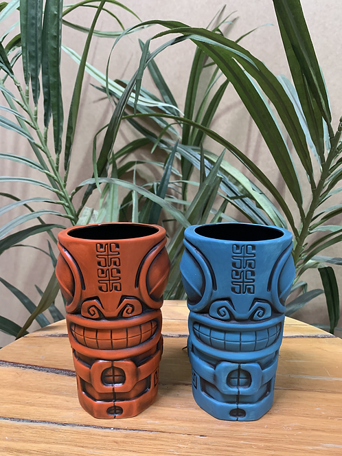 MARQOOL TIKI MUG (ORANGE & BLUE)