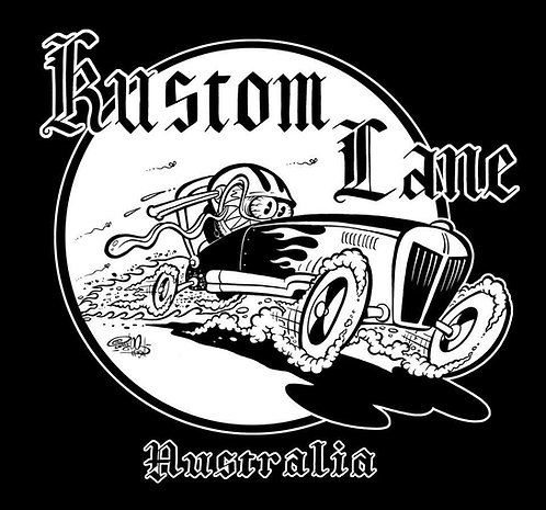 KUSTOM LANE GENTLEMANS RODDER T-SHIRT (WOMENS)