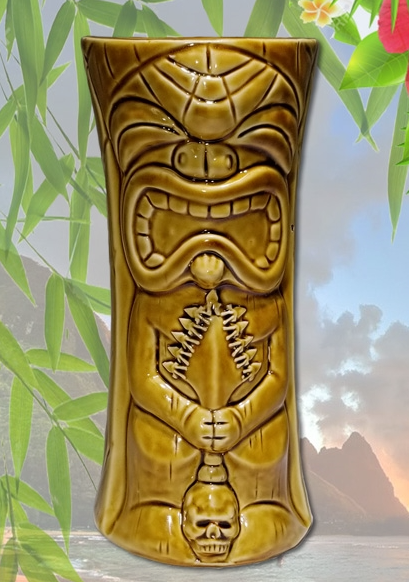 KU-KAILI-MOKU TIKI MUG (GOLDEN BROWN)