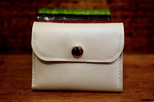 MINI WALLET - PEARL WHITE MATTE