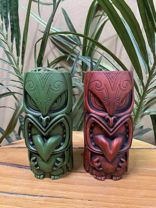 MOW-MOW TIKI MUG (GREEN & RED)