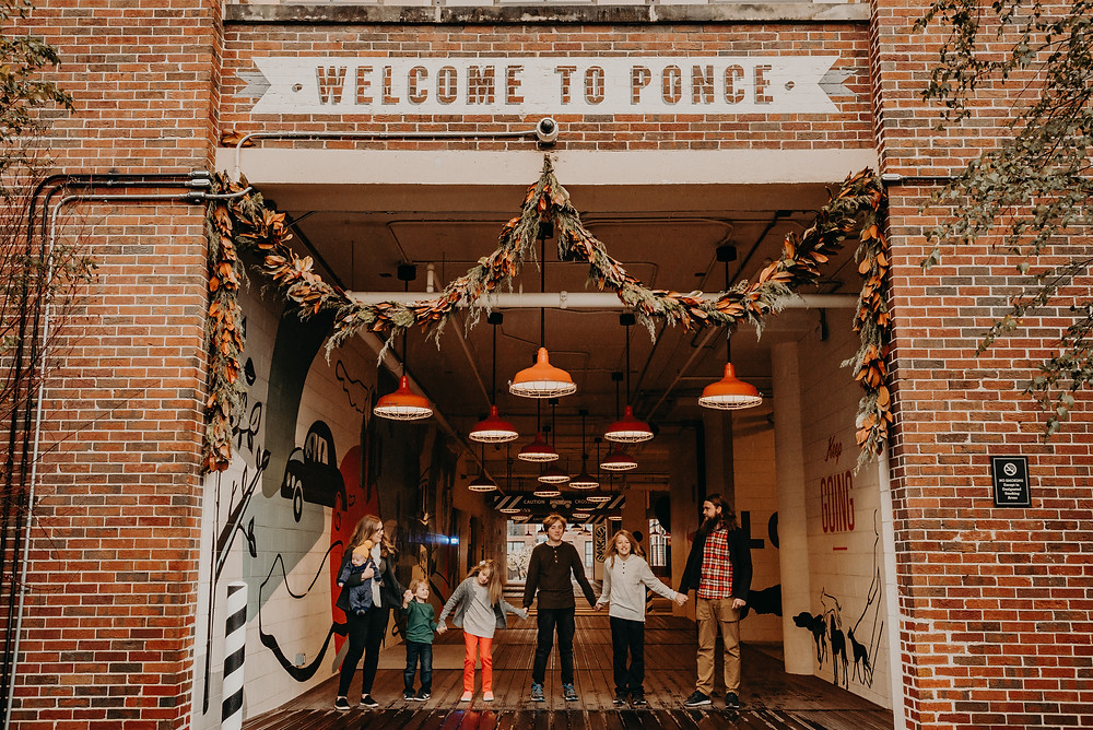 Family portrait session at ponce city market