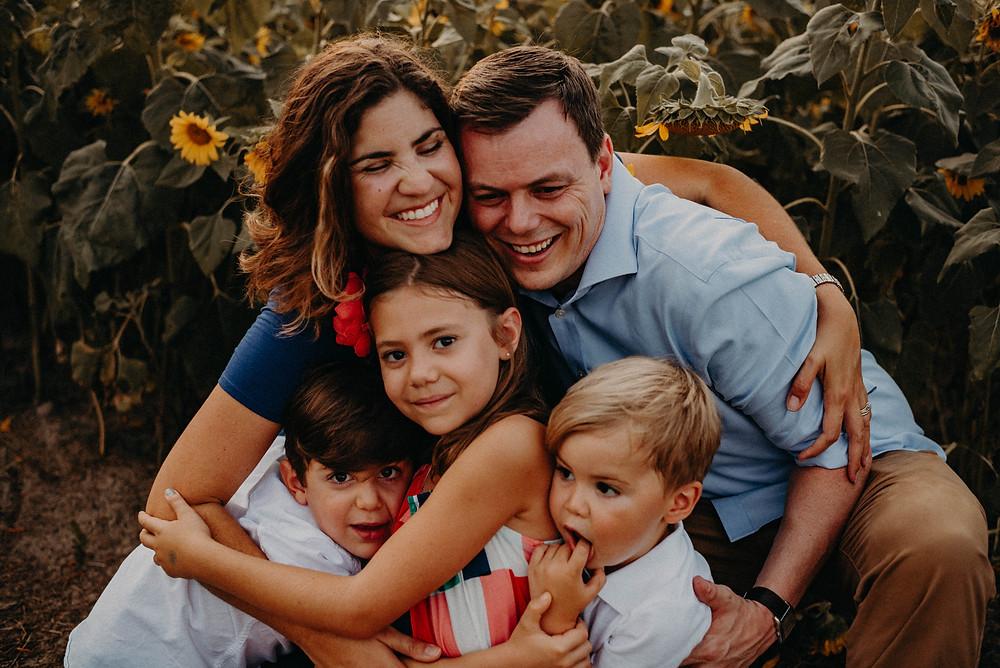 caucasian family of 5