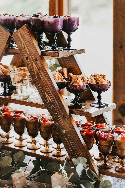 wedding reception desert