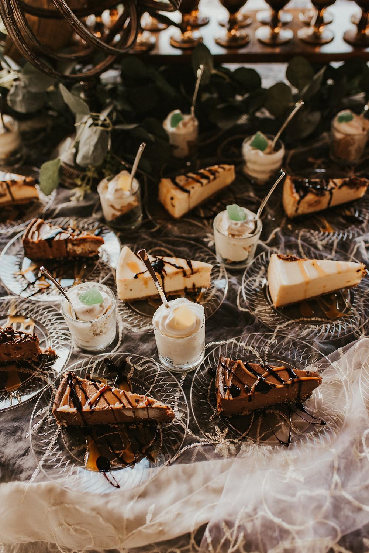 wedding reception deserts