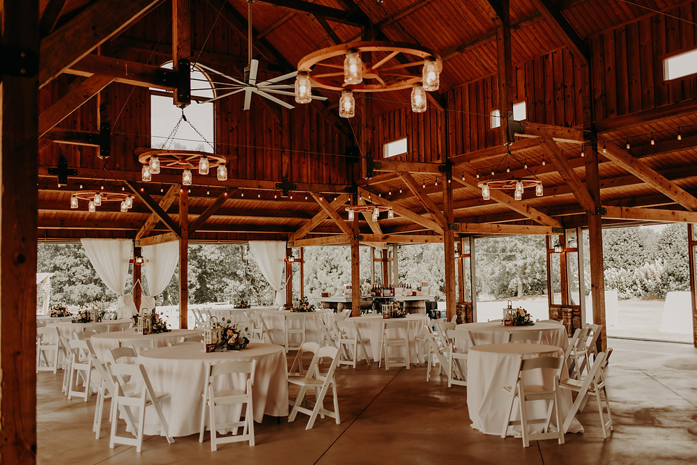Rustic vineyard wedding reception decor