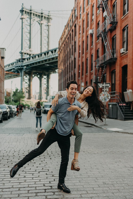 Couple having fun in Brooklyn