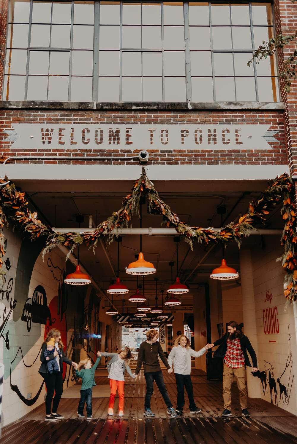 Family session at ponce city market