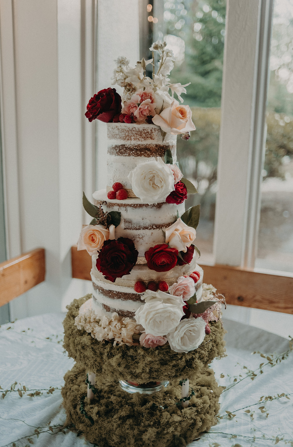 Beautiful Wedding Naked Cake