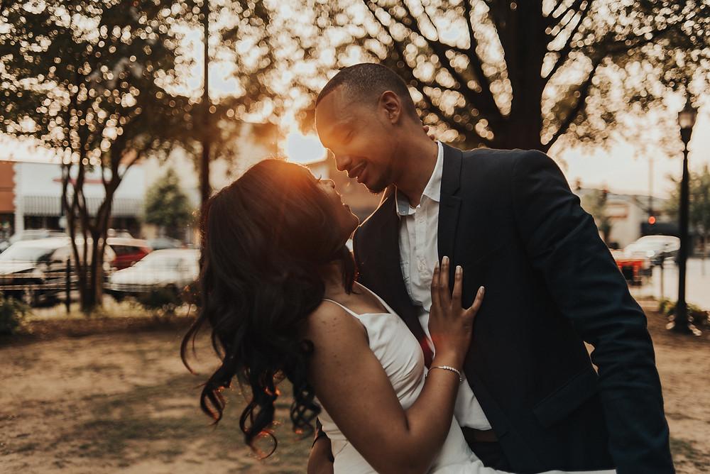 Engagement session at Marietta Square, GA. Atlanta Wedding Photographer