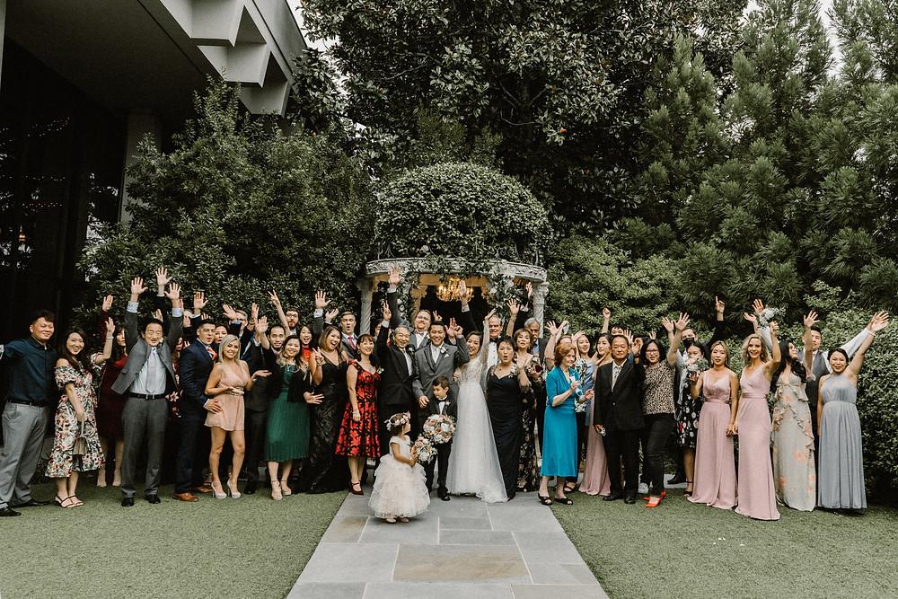 family photography wedding in a garden