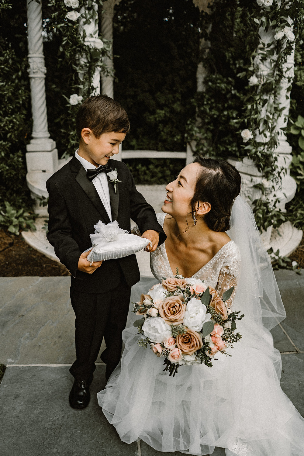 Bride and her ring bearer