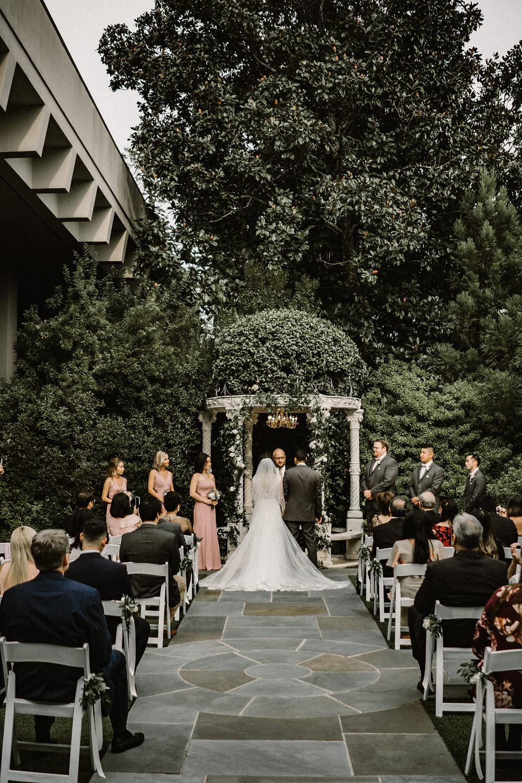 Wedding ceremony in a garden