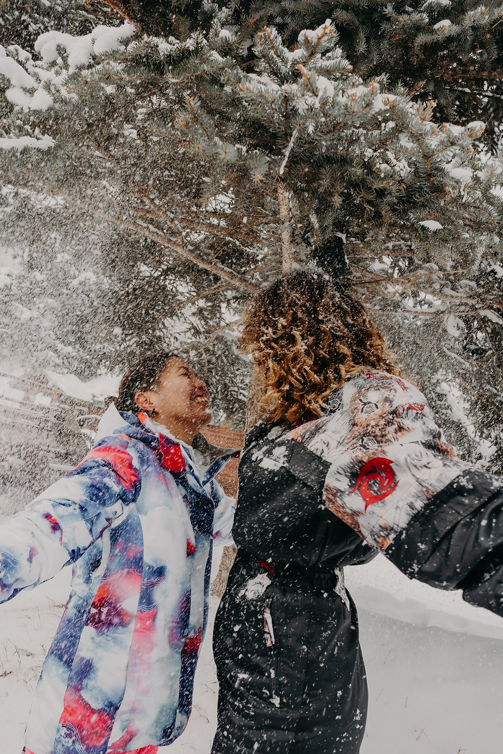 LGBTQI+ couple session in the snow