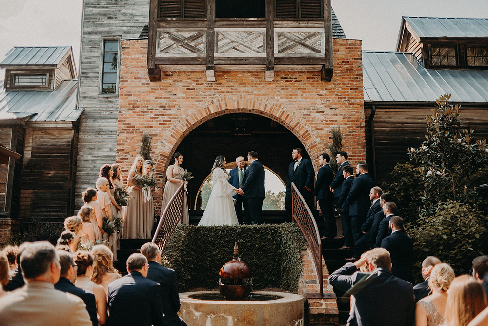 Wedding ceremony at Cherry Hollow Farm, GA