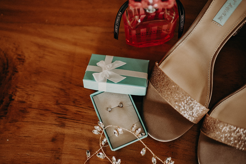 Bride accessories. Cherry Hollow Farm wedding, GA