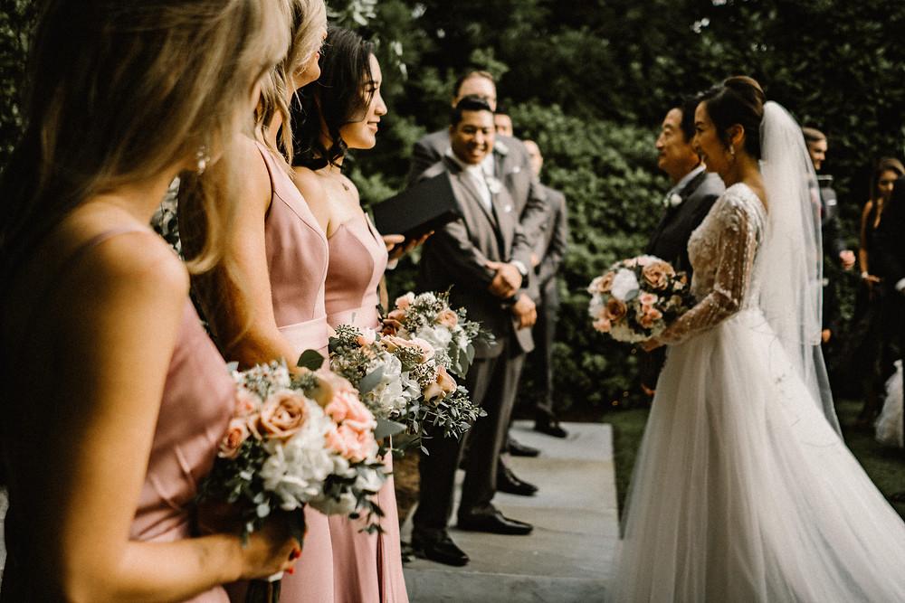 asian wedding ceremony in a garden