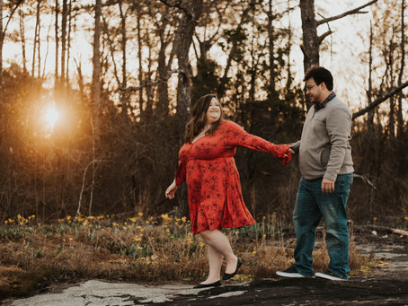 Becca and Justin // Engagement at Arabia Mountain // Atlanta & Destination Wedding Photographer