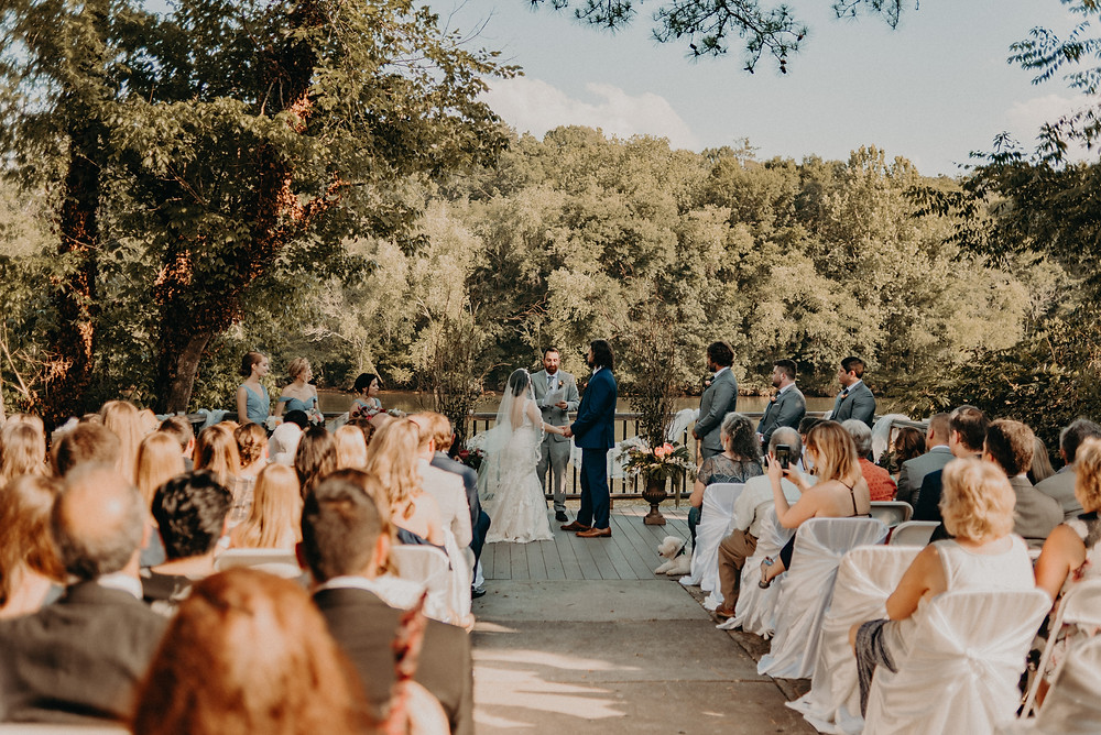 Outdoor Wedding ceremony at Roswell River Landing, GA