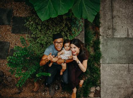 Sierra, Earl & Ayla: Family Session at Studioplex Studios Courtyard // Nathalia Frykman Photography
