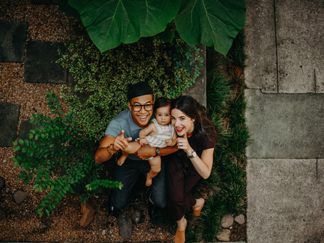 Sierra, Earl & Ayla: Family Session at Studioplex Studios Courtyard // Nathalia Frykman Photography