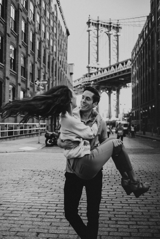 couple having fun in Brooklyn NY