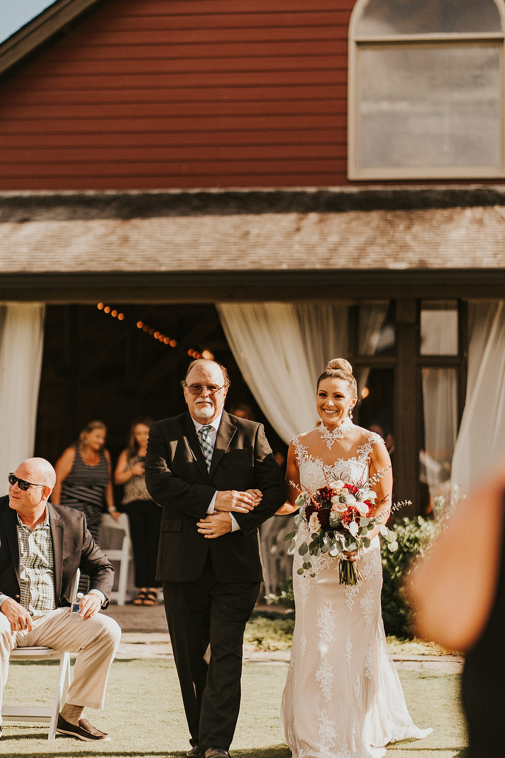 bride and her father ceremony