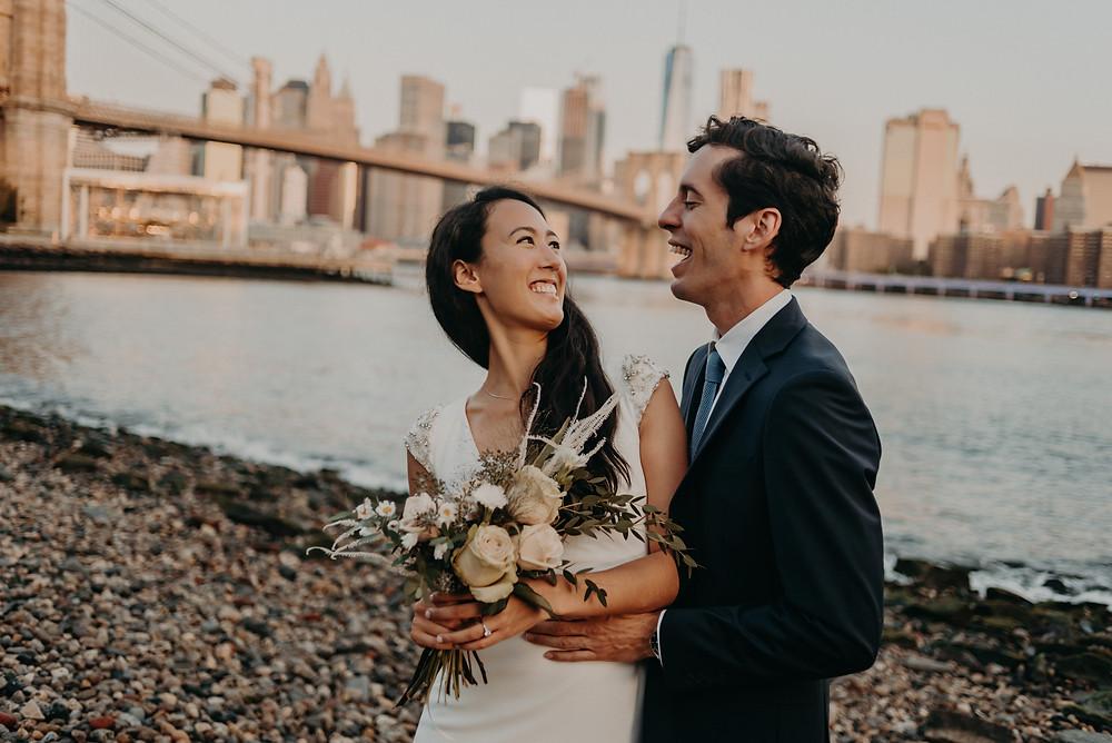 Couple having fun in bidal session in NYC