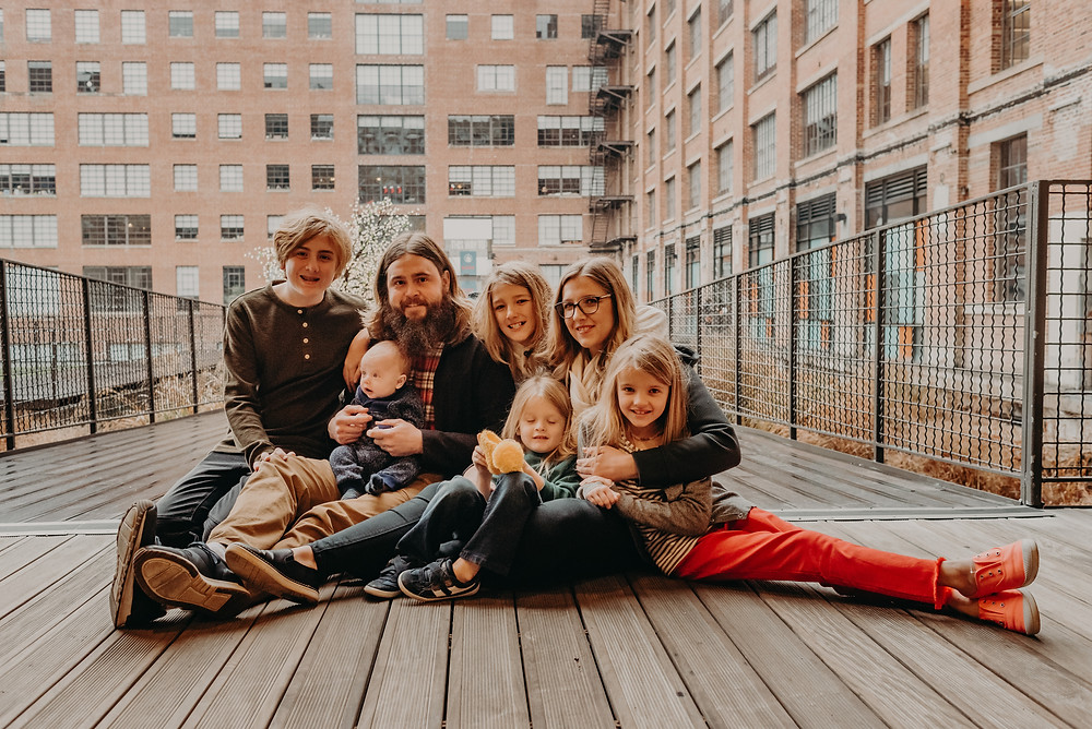 Family portrait at ponce city market