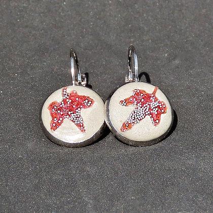 Boucles d'oreilles Lierre Ginkgo