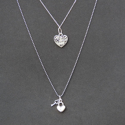 Collier double Coeur épris