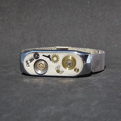 Bracelet homme béton et engrenages