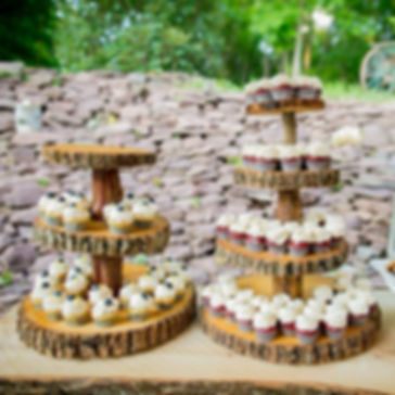 Tiered Rustic Wood Dessert Display Rental