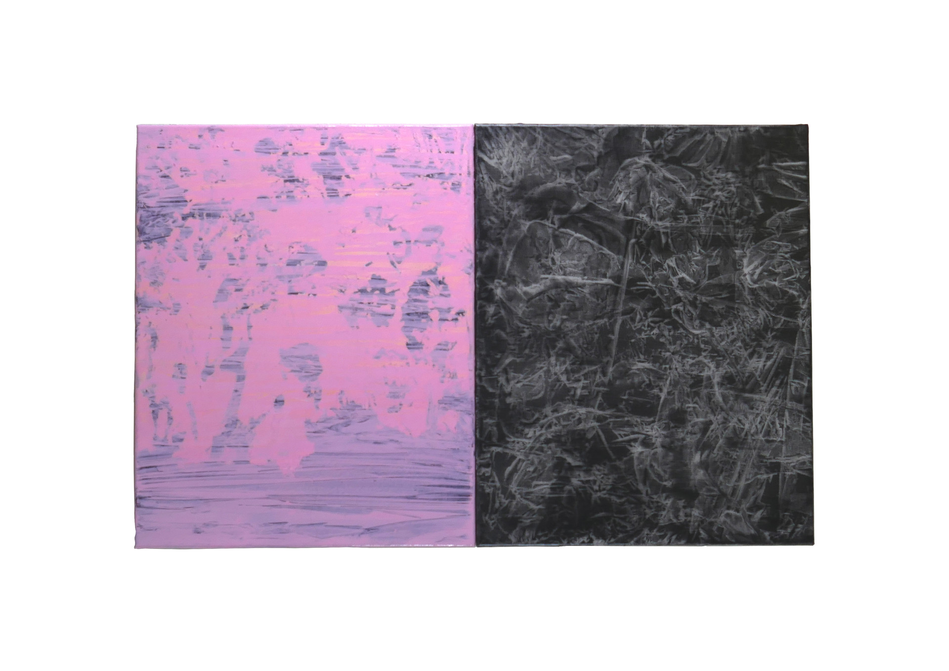 untitled, 2018, oil on linen, diptych 51 x 41cm each
