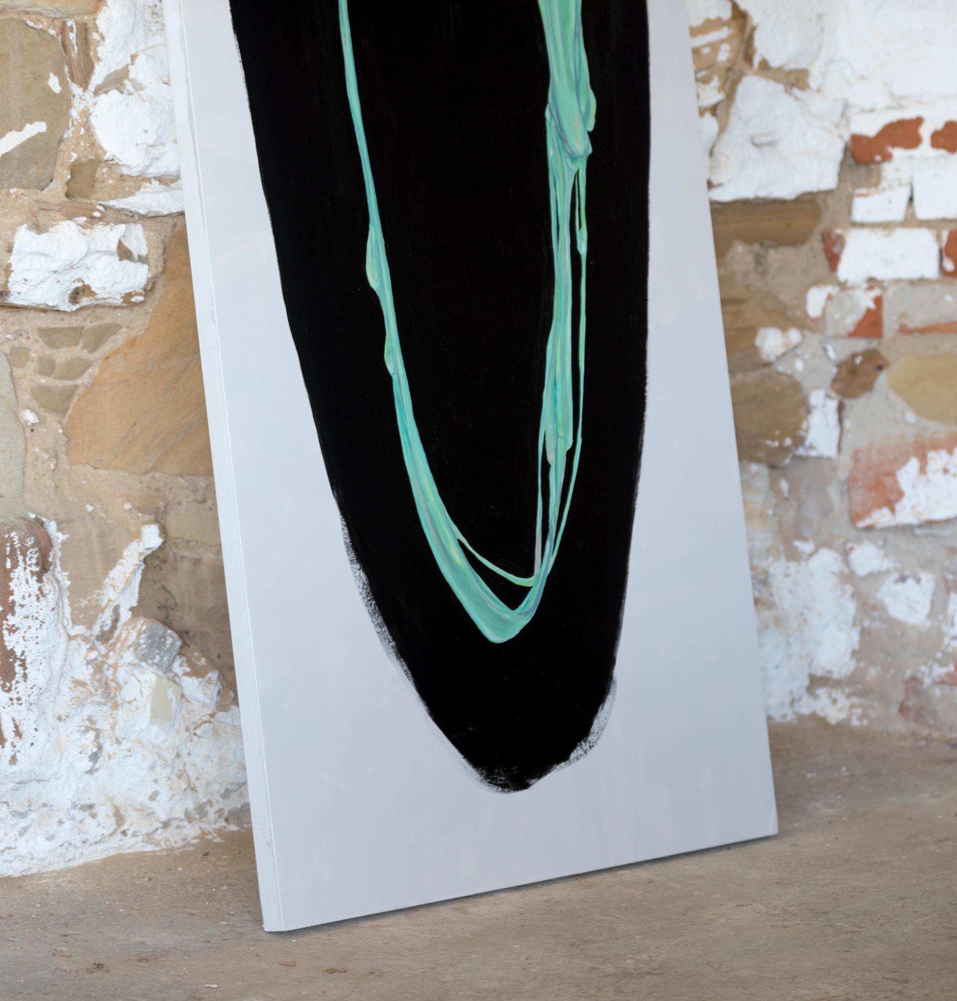 Gum Face (detail), 2017, oil on board, 205 x 72 cm