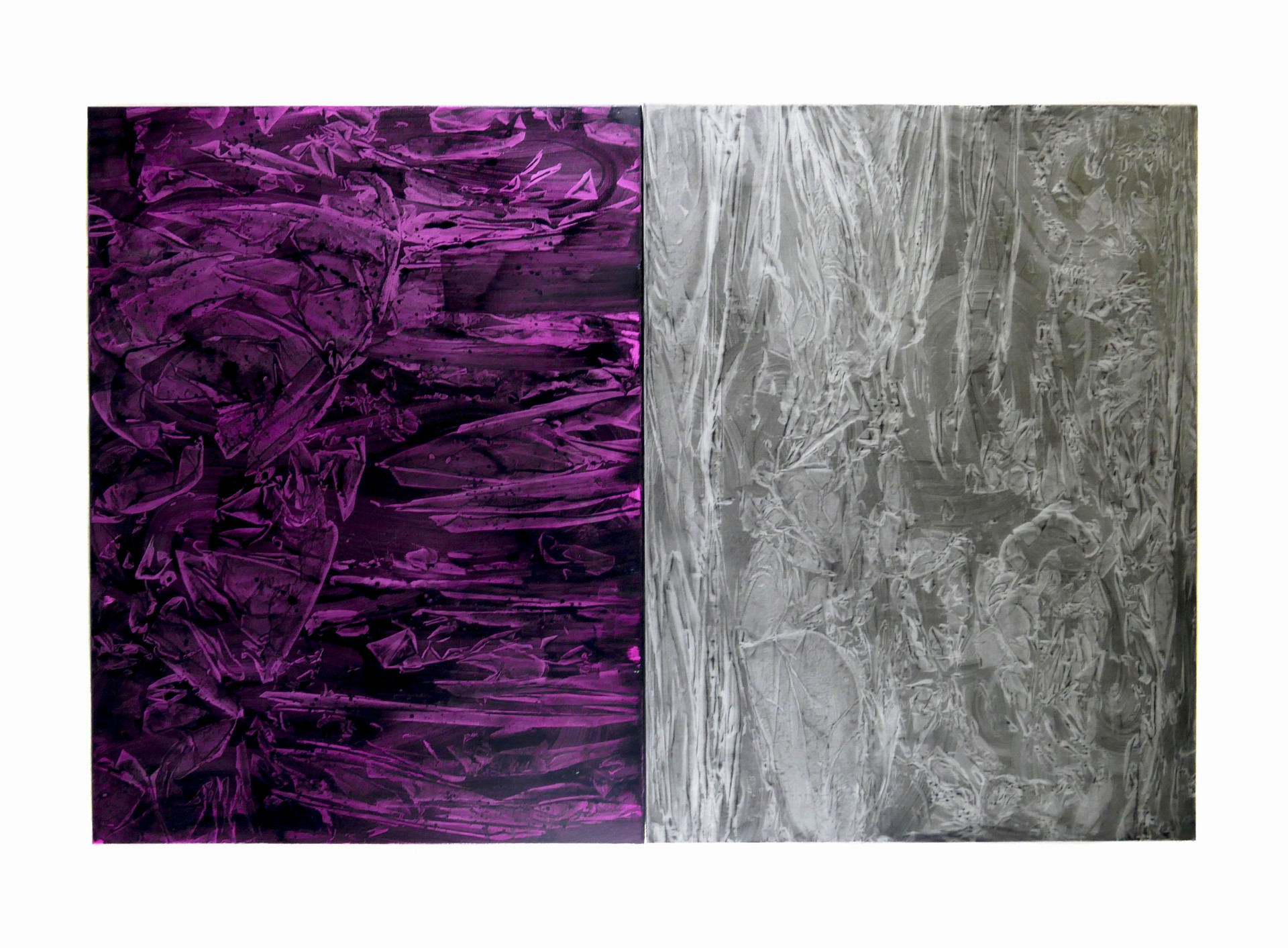 untitled, 2018, oil on linen, diptych 76 x 101cm each