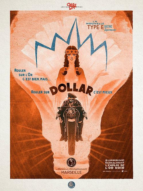 "Lithographie Dollar Type""E"" de Lorenzo"
